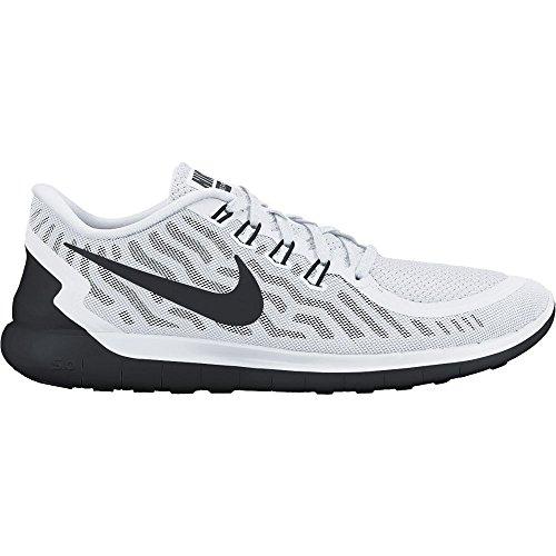 Nike Free 5.0 Zapatillas de running, Hombre blanco/negro