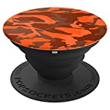 Autumn Fall Burnt Orange Halloween Fireside Camo Camouflage - PopSockets Grip and Stand for Phones and Tablets