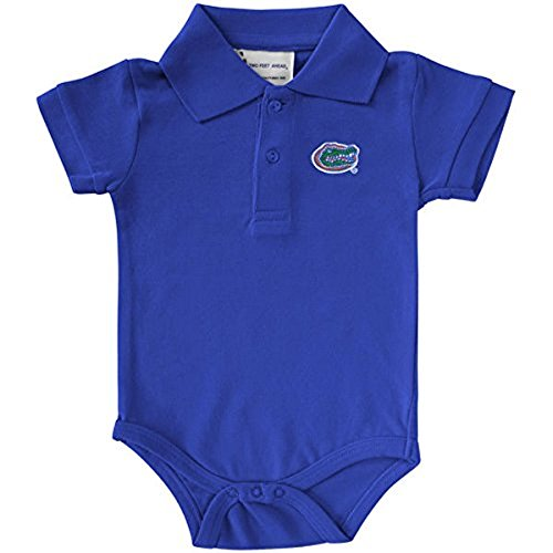 Two Feet Ahead Florida Gators NCAA College Newborn Infant Baby Polo Creeper (6 Months)