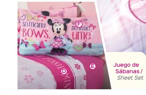 Disney Minnie Complete Sheet Set (Full) - Complete Full Sheet Set