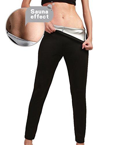 Aliex Womens Slimming Pants High Waist Sauna Hot Sweat Thermo Workout Weight Loss Body Shaper M