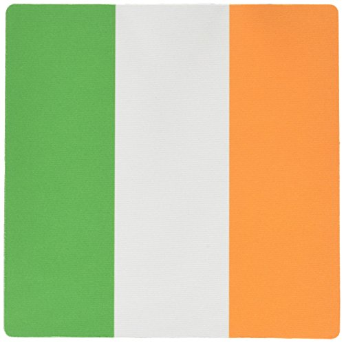 3dRose LLC 8 x 8 x 0.25 Inches Mouse Pad, Flag of Ireland Irish Green White Orange Vertical Stripes United Kingdom Uk World Country Souvenir (Vertical Irish Green)