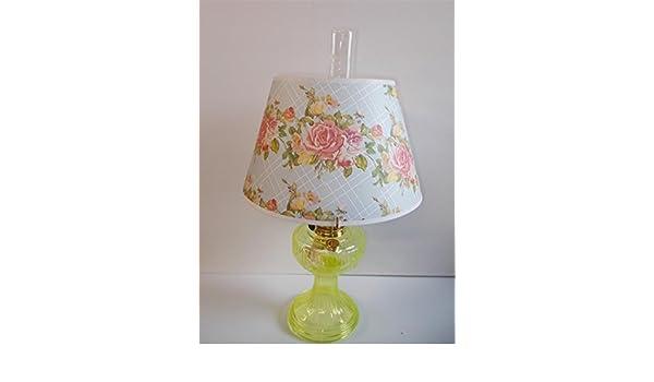 Amazon com: Aladdin Lamps Vaseline Short Lincoln Drape Lamp