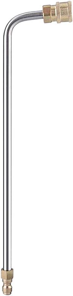Acero Inoxidable//Lat/ón Shiwaki 1//4 Lanza de Chorro de Metal para Lavadora de Coche J 17cm Material