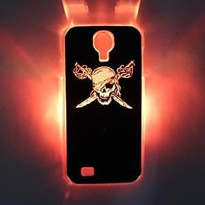 compra Pirate Skull Knife Llamando flash Volver Funda para el Samsung Galaxy i9500 4 , Negro