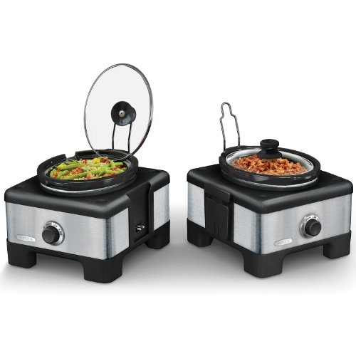 Amazon.com: BELLA 14013 Connectable Entertaining Slow Cooker System,  Stainless Steel: Kitchen U0026 Dining
