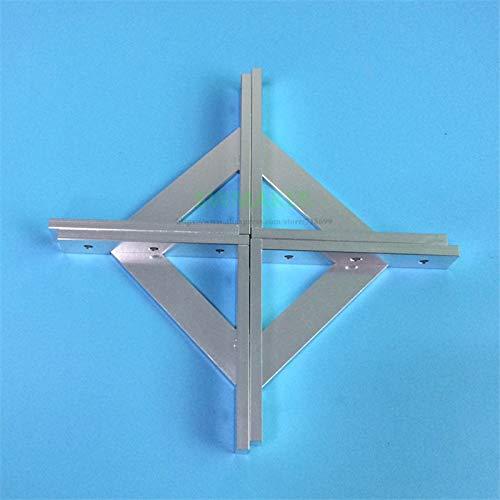 Zamtac 4pcs/Set Upgrade Anodized Aluminum Frame Reinforcing 2020 Cross Profile Corner for V-Slot Tronxy X3 Tevo Tarantula 3D Printer - (Color: - Aluminum Corner Anodized Cross