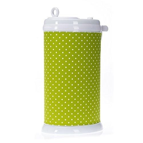 Glenna Jean Pippin Ubbi Diaper Pail Cover, Green Dot