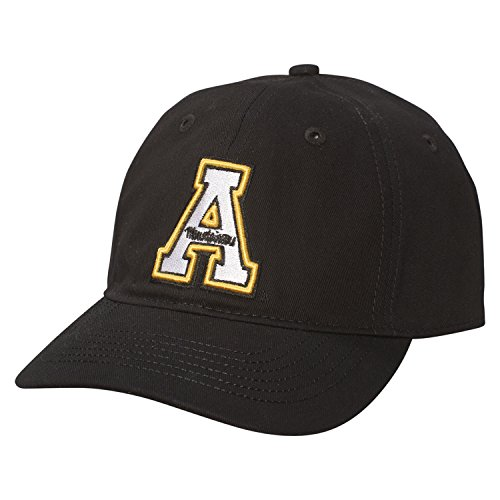 NCAA Appalachian State Mountaineers Epic Washed Twill Cap, Adjustable Size, Black