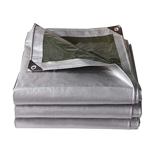 秘書シニス悪党KKCF オーニング耐寒性シェード不凍液防腐剤耐高温性屋外カーポートポリエチレン 、180 / M2 、20サイズ (色 : Silver green, サイズ さいず : 3.8x4.8m)