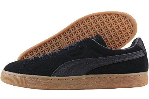 PUMA Men's Suede Classic Natural Warmth Sneaker, Puma Black-Puma Black, 12 M US