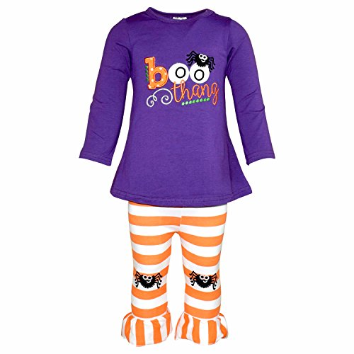 Unique Baby Girls Boo Thang Halloween Outfit with Spider Leggings (7/XXL, (Spider Girl Outfit)