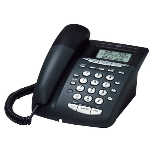 GE Corded 29897GE2 Phone with Speakerphone, Call Waiting Caller ID and Digital Answering System - Black