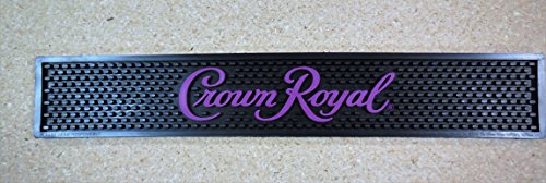 Crown Royal Bar Rail Spill Mat - Purple Writing (Crown Royal Drink)