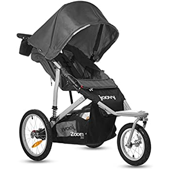 Joovy Zoom 360 Swivel Wheel Jogging Stroller, Black