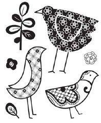 June Bug Clear Bitsy Stamp: Birdie - Bitsy Clear Stamp
