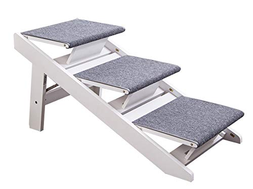 PAWLAND 2-in-1 Portable Folding Pet Stairs for Dogs, Cats, h