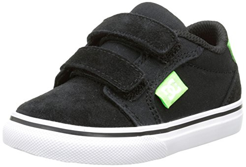 DC Shoes Anvil V T - Zapatos de primeros pasos Bebé-Niñas Negro - Noir (Black/White/Green)