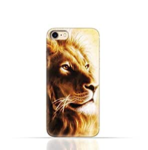 Apple iPhone 7 TPU Silicone Case with Lion Portrait Air Brush Pattern