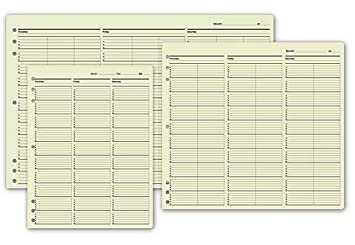 amazon com timescan undated appointment sheets 3 column 15 min
