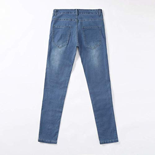 Pantaloni Jeans Fashion Laisla Strappati Aderenti Slim Ragazzi Classiche Da Blau Fit Uomo Neri Lunghi pqwUSU
