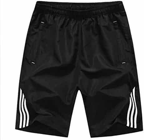 ff0cb2e78e Bansca Summer 2018 Casual Shorts Men Exercise Elastic Waist Slim Fit Solid  Knee Length Male Plus