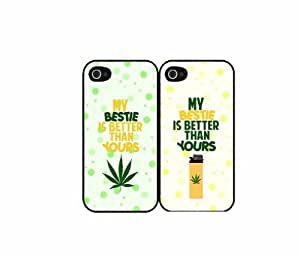 My Bestie Is Better Than Yours - Set of 2 Plastic Phone Case Back Cover (iPhone 5/5s)