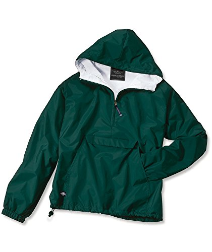 Charles River Apparel Wind & Water-Resistant Pullover Rain Jacket (Reg/Ext Sizes), Forest, XL