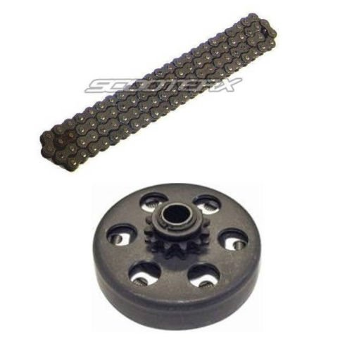 Mini Bike Chopper Go Kart Clutch 3/4 Bore 10 Tooth #41 Sprocket Size + 420 Chain Combo [4130] + (Mini Bike Chopper Parts)