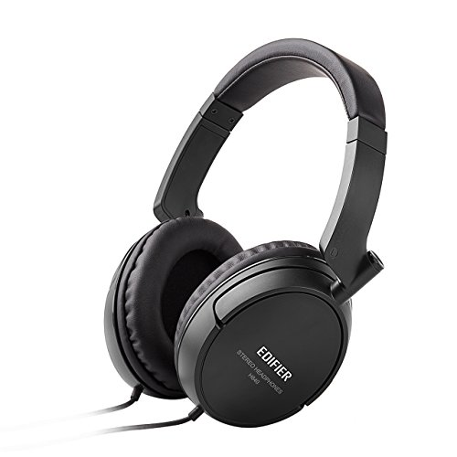 Edifier H840 Over-Ear Headphones, Stereo Lightweight Adjustable Wired...