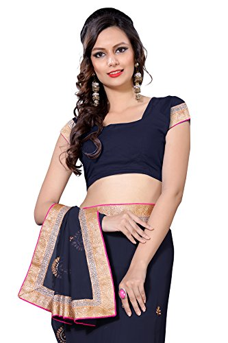 Oomph-Georgette-Sarees-for-Women-Party-Wear-Indigo-Blue