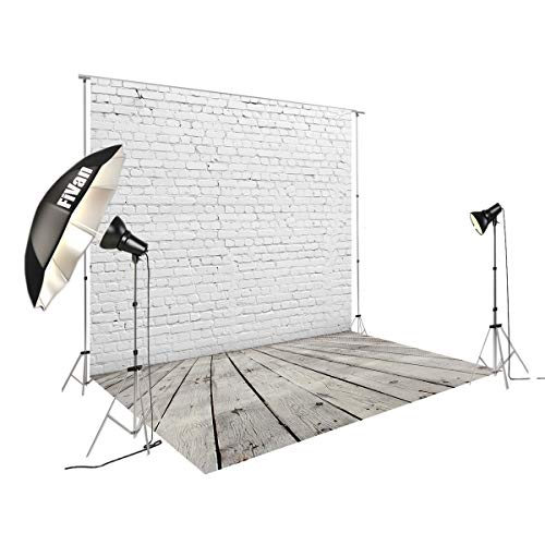 8'X12' White Brick Wall