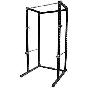 Bloodyrippa Power Rack Heavy Duty Adjustable Power Cage Multi-Function Fitness Squat Cage for a Complete Home Gym, Strength Training and Muscle Building, Black