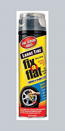 Fix-A-Flat S430-6PK Aerosol Tire Inflator with Hose for Large Tires - 20 oz, 6 Pack