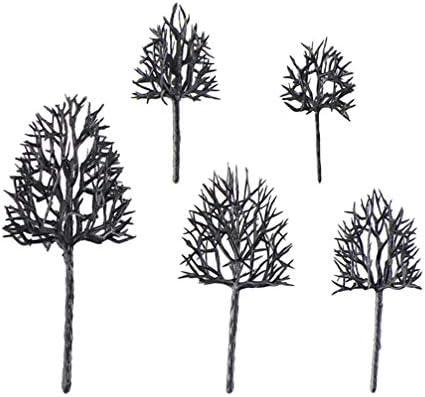 Vosarea 5ピースモデル木モデル鉄道木通り鉄道風景ジオラマの木建築木モデルDIYショップ