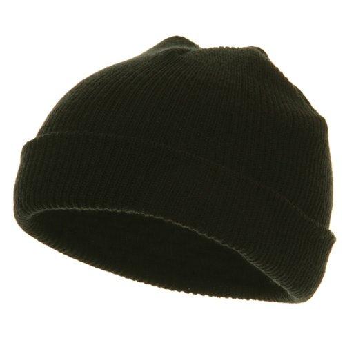 (Infant Knit Cuff Beanie - Black)