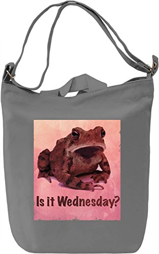 Is it wednesday Borsa Giornaliera Canvas Canvas Day Bag| 100% Premium Cotton Canvas| DTG Printing|