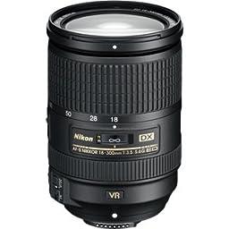 Nikon AF-S DX NIKKOR 18-300mmf 3.5-5.6G ED Vibration Reduction Zoom Lens with Auto Focus for Nikon DSLR Cameras