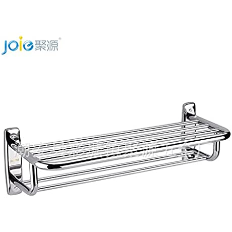 23 62in Stainless Steel Double Layer Light Bathroom Shelf 600mm