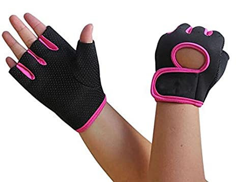 Bike Cycling Gloves for Women Men, Breathable Motorcycle Mountain Bicycle Road Racing Biking Half Finger Gloves Anti-slip Shockproof Gel Pad Sports Gym Fitness Work Exercise Cycling Fingerless Gloves Baxit Group Limited