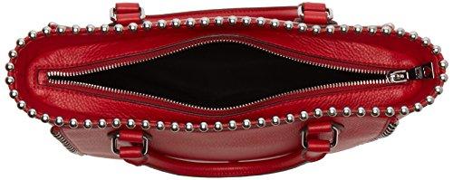 H 9x25x36 Pebble Bag B Love Moschino Borsa cm T x Womens Vitello Rosso Shoulder Red P4zO4