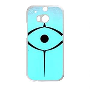 Personalized Creative Cell Phone Case For HTC M8,black eyes with blue background