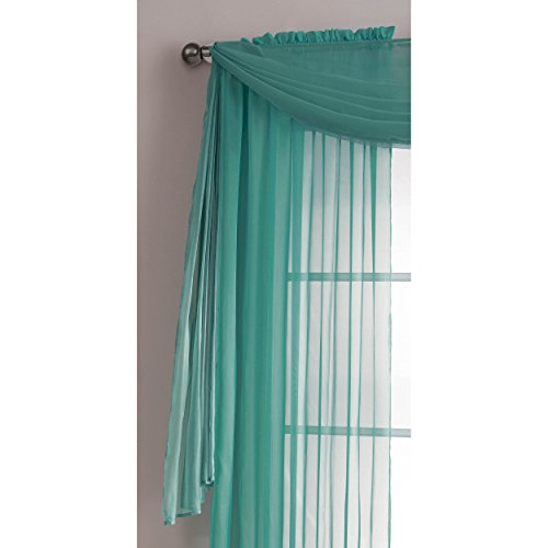 window elements sheer voile 56 x 216 in curtain