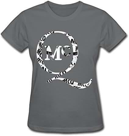 SHJQ Women's T Shirts Cool Mcq Alexander Mcqueen DeepHeather Size S