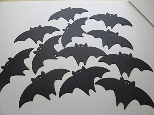 Black Bats Halloween Table Scatter Confetti 12 Pieces, 6