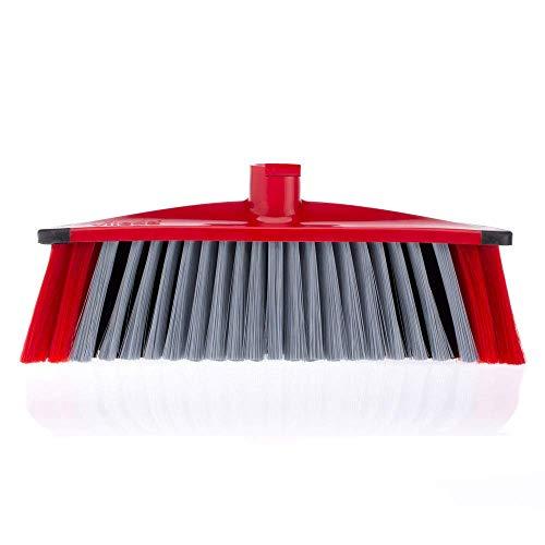 Vileda 3Action Bezem – combinatie van 3 borstelharen – voor stof, grof vuil en haren en voor hoeken