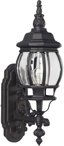Forte Lighting 1701-01 Outdoor Wall Sconce from The Exterior Lighting Collection, Black
