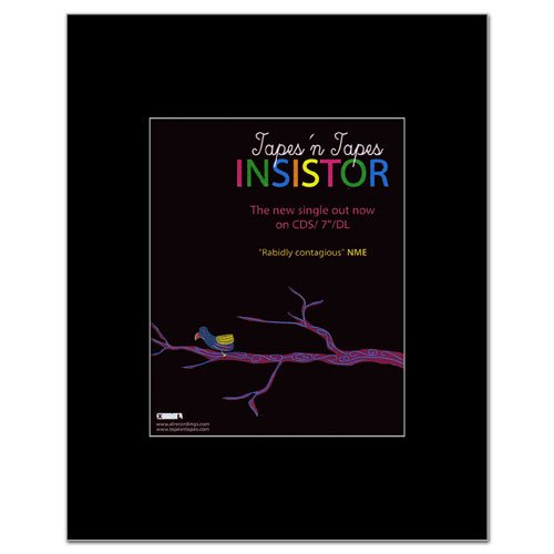 Music Ad World Tapes N Tapes - Insistor Mini Poster - 14x11cm