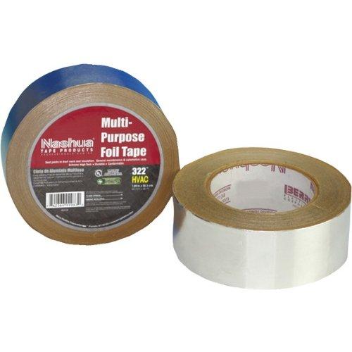 Nashua Foil Tape (1 - 617001B Nashua 322 Multi-Purpose Foil Tape, General purpose foil tape, 2mm aluminum foil backing, 915245)