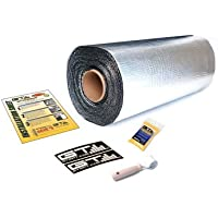 GTMAT 110 10 sqft Automotive Constrained Layer Damper Dampening Deadening Resonance Dampening 110 Super Thick – Noise Sound Deadener Installation Kit Includes: 10sqft Roll (36in x 35), Instruction Sheet, Degreaser, GTMAT Decals